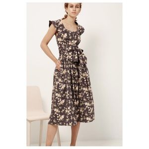 Rebecca Taylor La Vie Floral Madeline Midi Dress